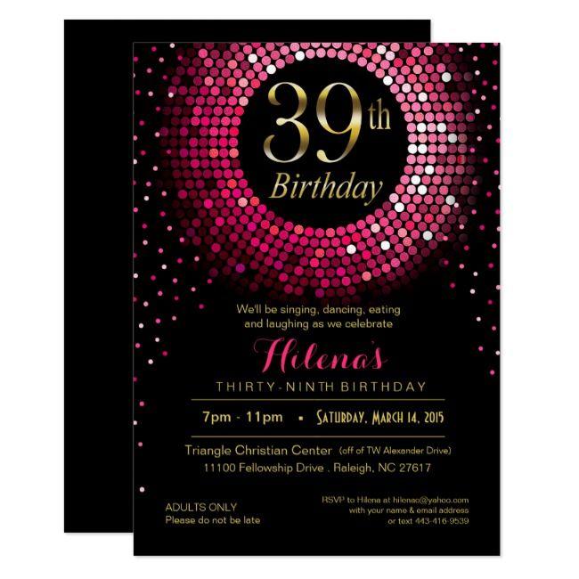 Create Your Own Invitation Zazzle Com 40th Birthday