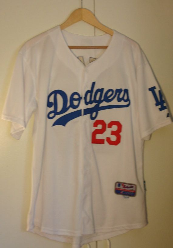 """Size 48 Majestic MLB Dodgers Number 23 Adrian Gonzalez """"Gonzo"""" 1st Baseman Perfect Jersey Sown On Numbers & Name Official Sports Apparel!"""