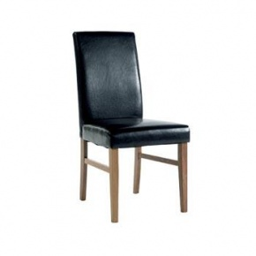 Cotswold Pine Faux Leather Chair Brown KN504  www.easyfurn.co.uk