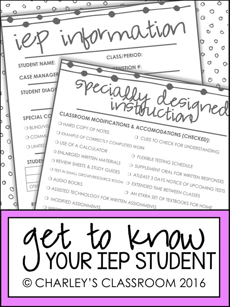 Out of ten years of teaching special education, this is a form I have been…