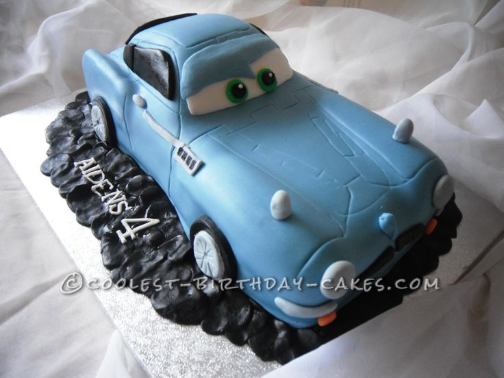 Coolest Finn McMissile Cake... This website is the Pinterest of birthday cake ideas