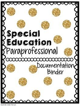 This file is designed to allow for paraprofessionals to accurately document student progress and data while doing inclusion. This file contains…- A paraprofessional job description in SPED-A time log for paraprofessionals to keep them accountable and to allow for a way to track accurate inclusion time-Student Info sheet-accomodations/modifications sheet-Goal Progress Monitoring