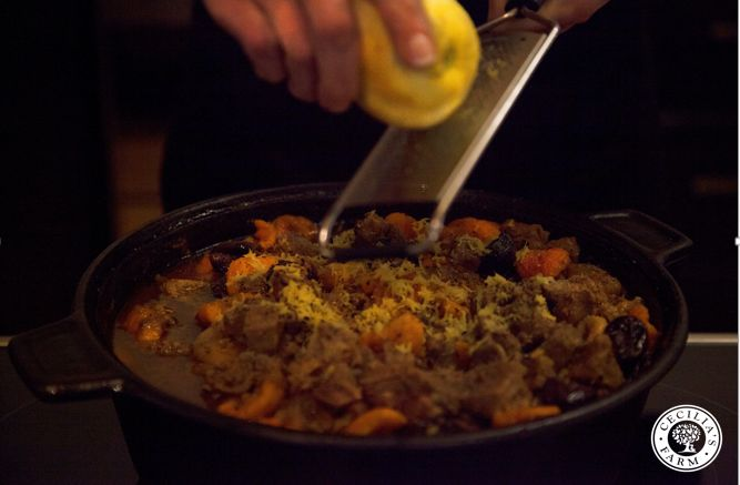 Make this delicious Lamb Tagine with Cecilia's Farm Prunes and Peeled Cling Peaches. Download recipe http://bit.ly/1ASb55G and visit our online shop to buy these and other delicious dried fruit and nut products http://www.ceciliasfarm.co.za/shop #onceuponafarm #driedfruit #recipe #ceciliasfarm