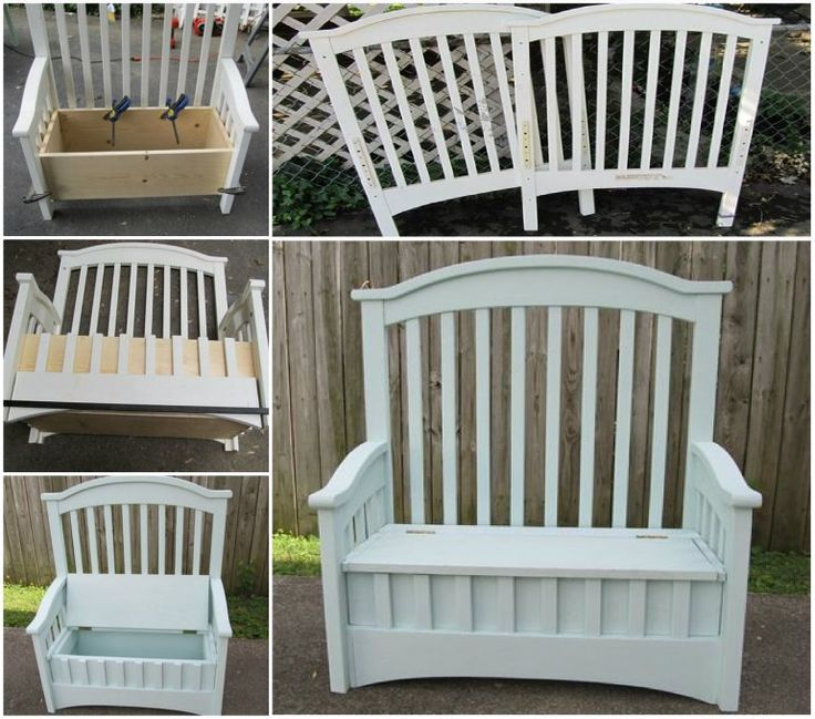 Best 25 Crib Bench Ideas On Pinterest Repurposing Crib