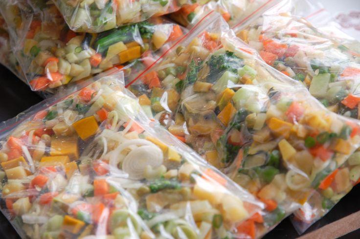 Facilitando a semana com refeições congeladas – Seleta de legumes e feijões