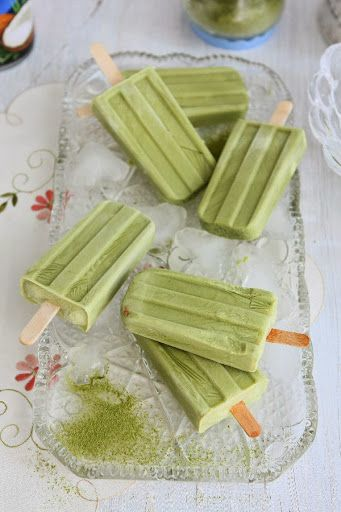 Matcha Coconut Popsicles (Gluten-free, Dairy-free, Vegan)
