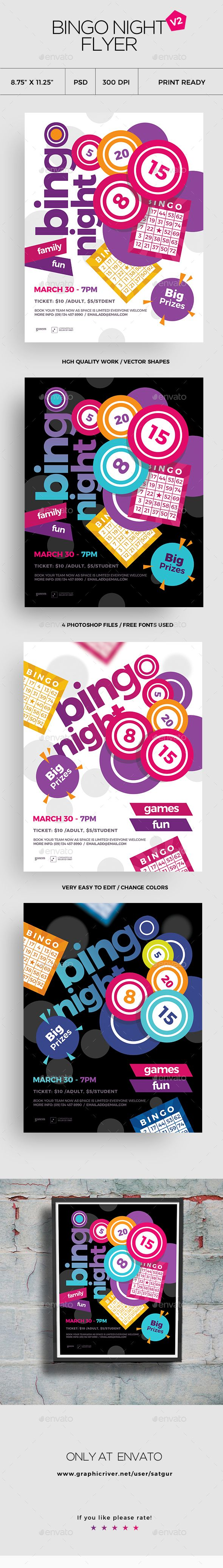 Bingo Flyer Template PSD