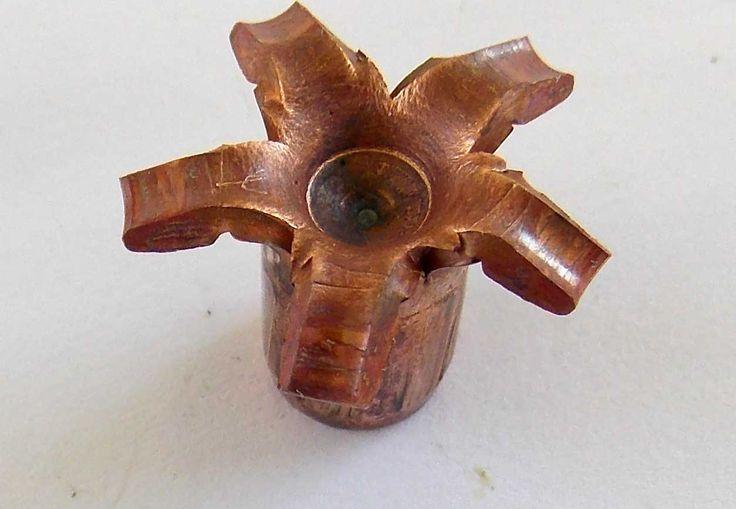 Upset Gorilla Ammunition bullet showing petals