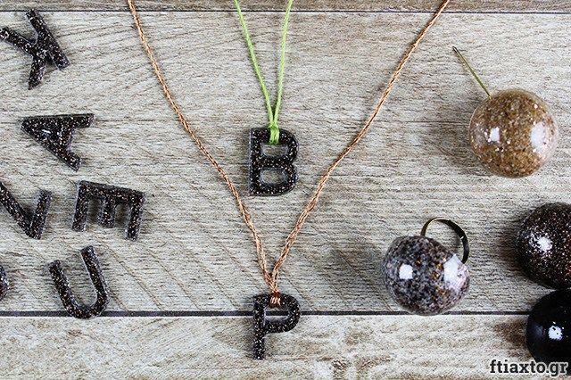 Κοσμήματα από υγρό γυαλί και γρανίτη