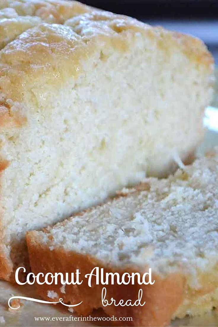 Oh my goodness, this coconut almond bread recipe is so moist and delicious you will just be in heaven when you bake it. I made this recipe with unsweetened almond milk so I don't think it is that bad for your New Year's resolutions! I also used almond extract in this recipe and I just love the smell that it gives to the batter. My