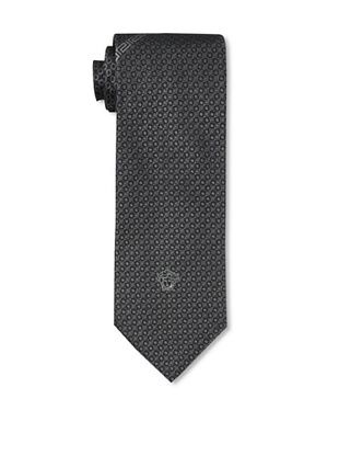 Versace Men's Pebbled Tie, Black
