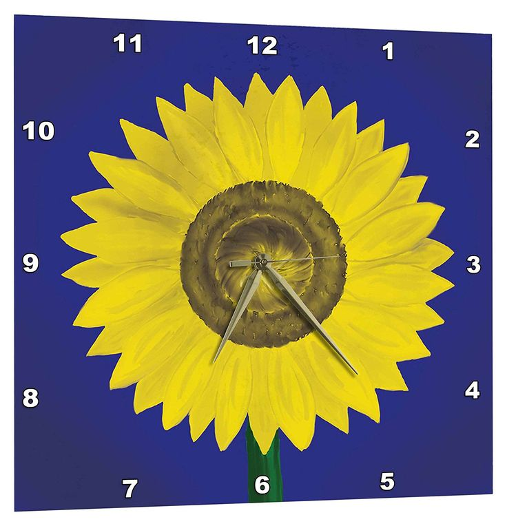 3drose sunflower giant sunflower digital oil painting in deep blue and yellow wall - Feldstein Kaminsimse