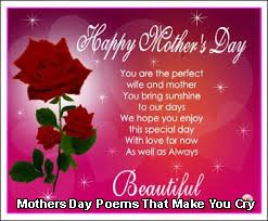 Mothers Day Poems That Make You Cry Reach your moms heart ...