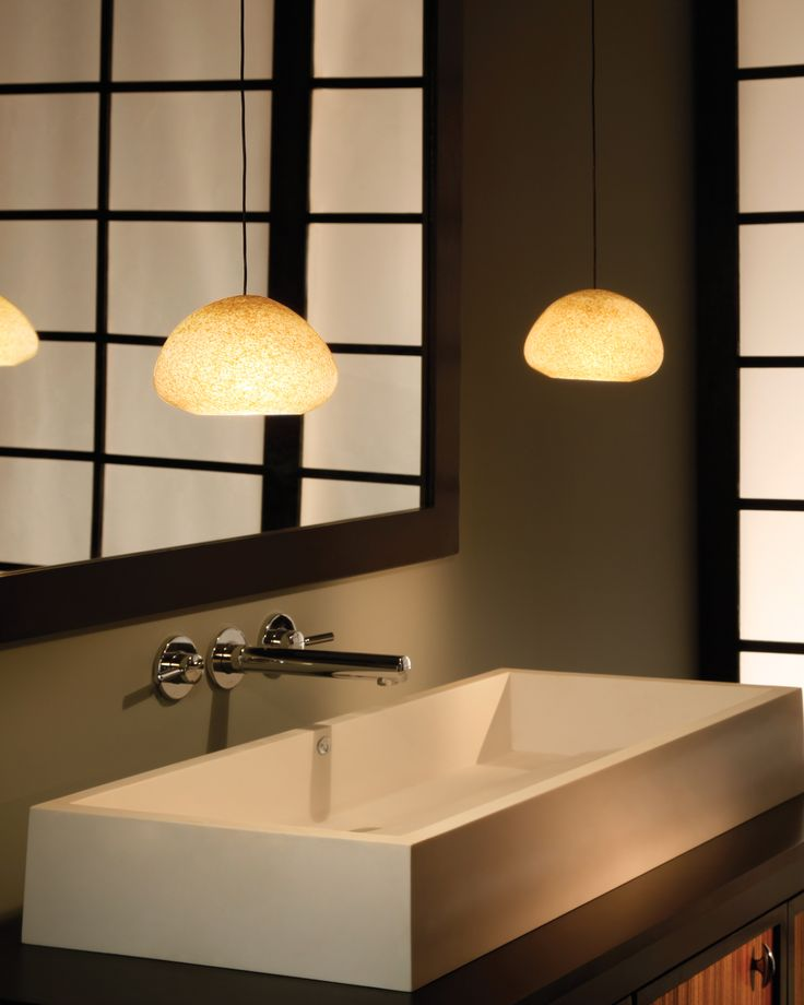 River rock wedge pebble brown pendants on free jack round flush canopies in antique bronze in contemporary bathroom tech lighting small light weight low