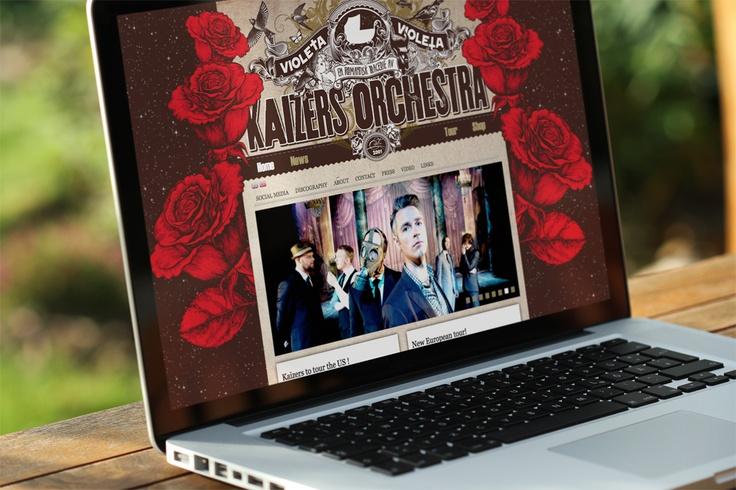 Vikingweb lanserer endelig Kaizers Orchestra sin nye webside!