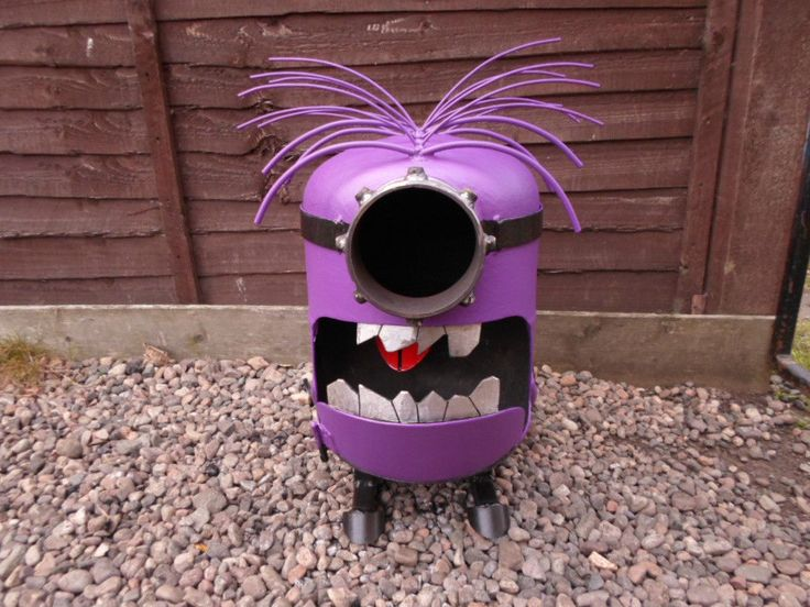 Despicable Me Minion Garden burners made from Gas bottles. Log/Wood Burner/Hand Made/Fire Pit/Patio | United Kingdom | Gumtree