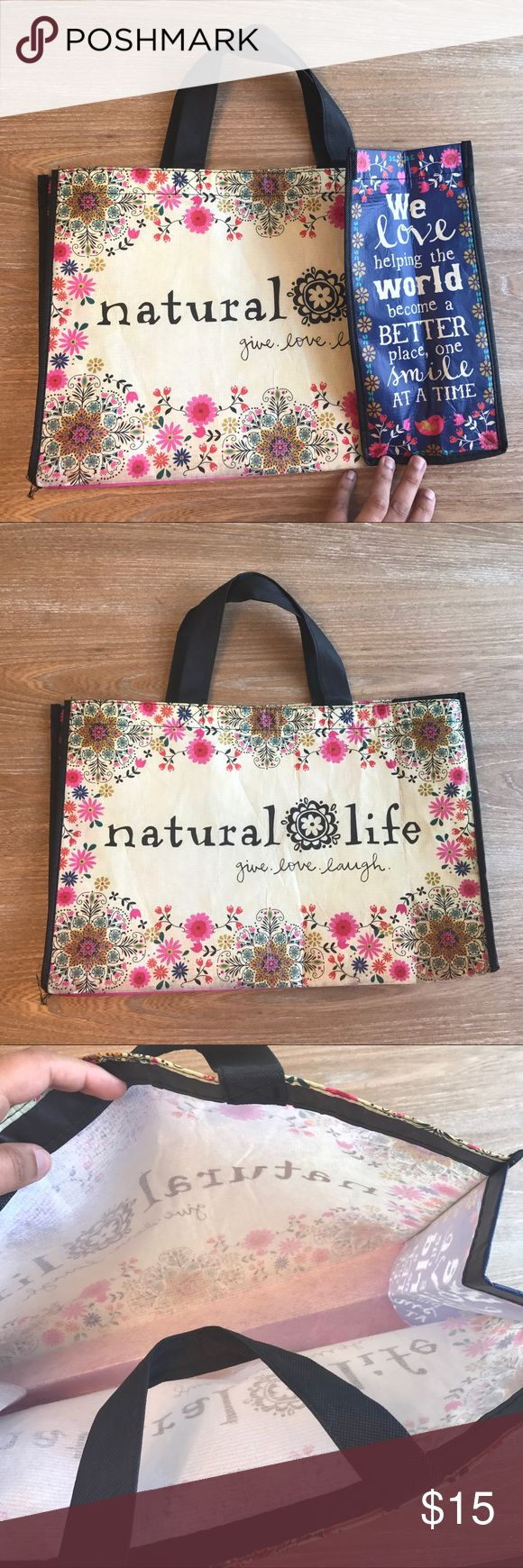 NATURAL LIFE BIG TOTE 💗Condition: EUC, No flaws, no rips, holes or stains. 💗Smoke free home/Pet hair free 💗No trades, No returns. No modeling  💗 If you want to resell the item, yes, you are allowed to use my photos. 💗Shipping next day. Beautiful package! 💗ALL ITEMS ARE OWNED BY ME. NOT FROM THRIFT STORES 💗All transactions video recorded to ensure quality.  💗Ask all questions before buying NATURAL LIFE Bags Totes