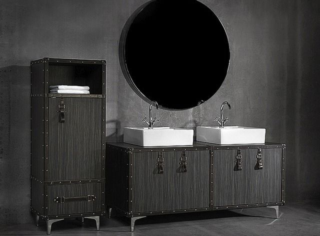 Czarne meble łazienkowe. Collection Alexandra