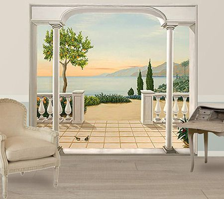17 best images about trompe l 39 oeil on pinterest vineyard bathroom mural and window. Black Bedroom Furniture Sets. Home Design Ideas