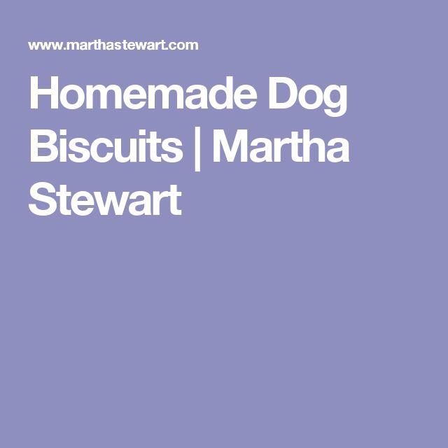 Homemade Dog Biscuits | Martha Stewart
