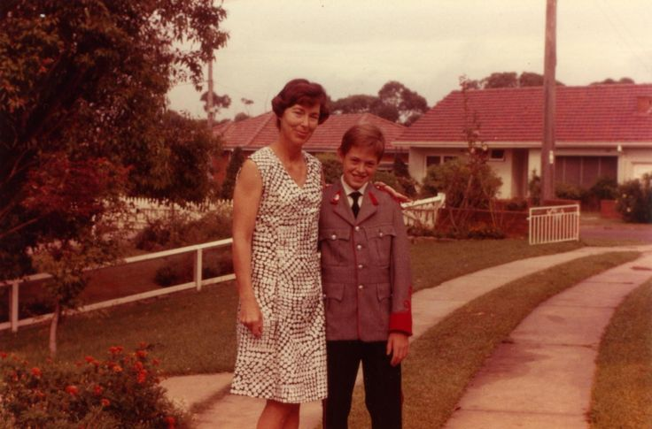 Kings School - in uniform with my mum 1971