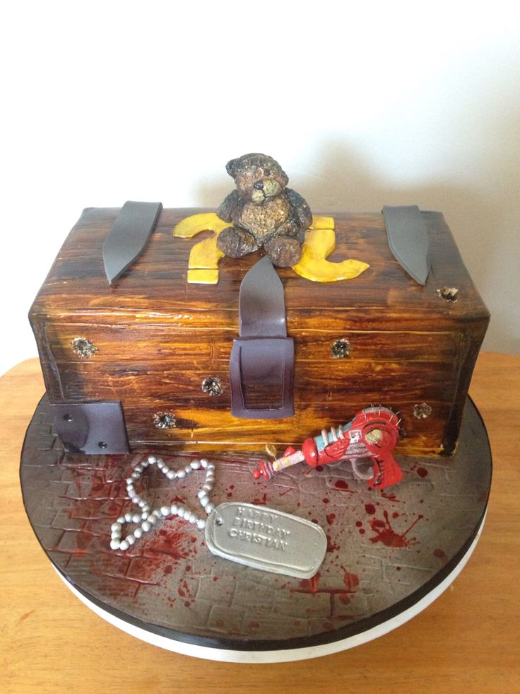 Mystery box cake call of duty black ops zombies cake by shweetcakery