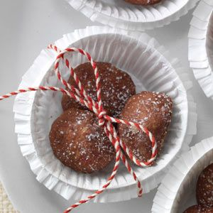 Cherry Mocha Balls Recipe -My mother-in-law gave me this recipe before my wedding (six children ago!). I've made mocha balls nearly every Christmas since then. Because they freeze so well, I bake some early and put them away to call on as last-minute holiday treats. —Jeana Crowell, Whitewater, KS