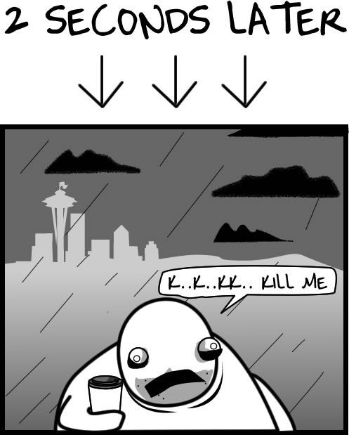 The 4 Seasons of Seattle Weather - The Oatmeal
