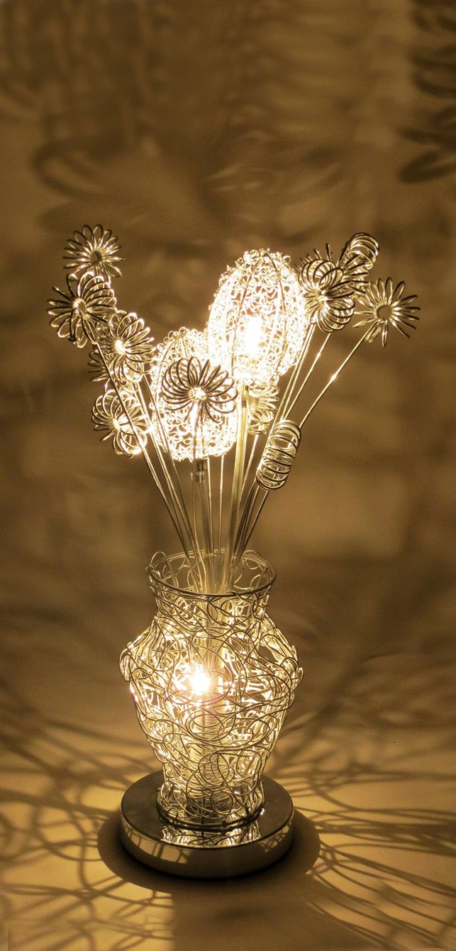 44 best wire table lamps images on pinterest wire table flower httpwirelampswlt3023 3silver greentooth Gallery