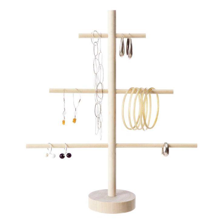 Verso Mini Jewellery Tree | Finnish Design | www.homearama.co.uk | #verso #versodesign #jewellerytree #jewelleryhanger #jewelleryorganisation #finnishdesign #birch