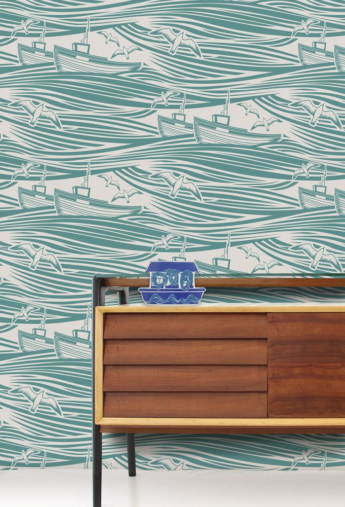Lovely sea inspired Whitby wallpaper