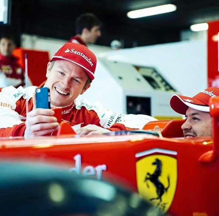 Kimi & Vettel in Melbourne 2015. #friends
