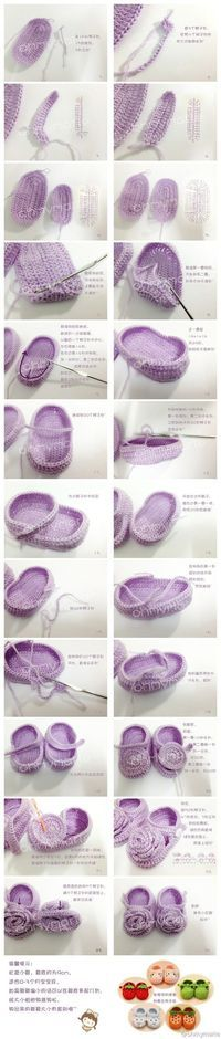 Crochet baby shoes tutorial, just what I need!