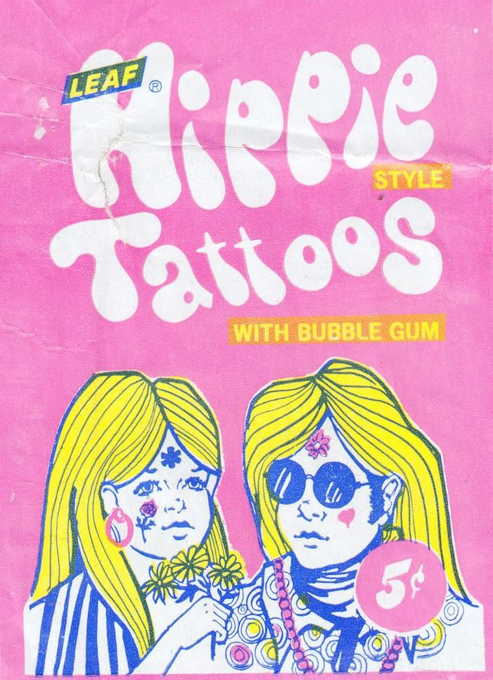 bubble gum tattoos? OK!