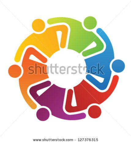 Vector Icon Graphic Teamwork Hug 6 -Group Of People - 127376315 ...