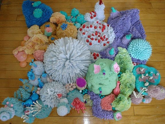 Coral Reef | Pipe Cleaners, Balloons, Coffee Filters, Rubber Typing Fingers, Etc.