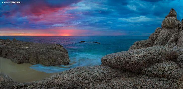 Impresionante paisaje desde playa El Tule, en #Cabo #BajaCaliforniaSur  Paraíso Entre Dos Mares #Baja #Mexico #Beach #Sunrise