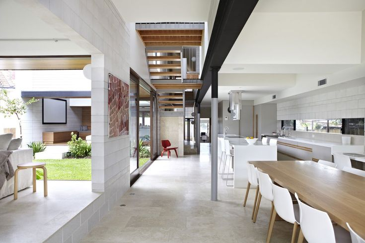 Love the soft mix of materials, spaces and lines
