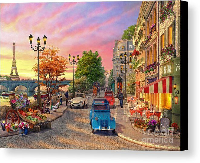 Seine Sunset Canvas Print Canvas Art By Mgl Meiklejohn Graphics Licensing In 2021 Sunset Art Sunset Canvas Street Scenes