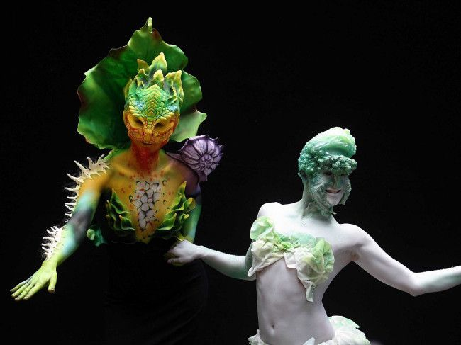 So Austria just hosted the 16th World Bodypainting Festival with a huge turnout of over 29,000 curious onlookers as well as participants from 45 countries. Naturally, a number of enthusiasts creatively re-interpreted the theme 'Planet Food' as 'Really, WTF?'. Here is indisputable evidence.