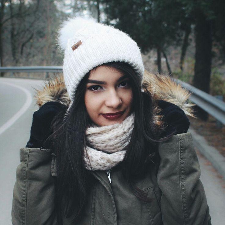 cozy winter portrait