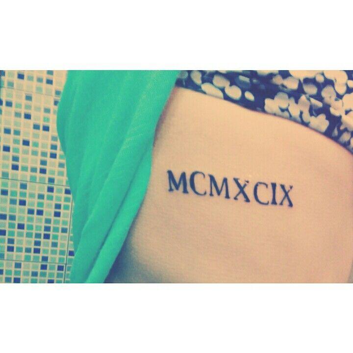 #1999 #tatuaje  En números romanos
