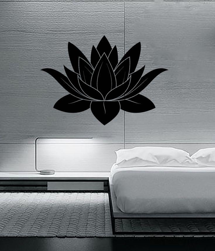 Wall Stickers Vinyl Decal Lotus Flower Buddhism Symbol of Purity Talisman ig2310