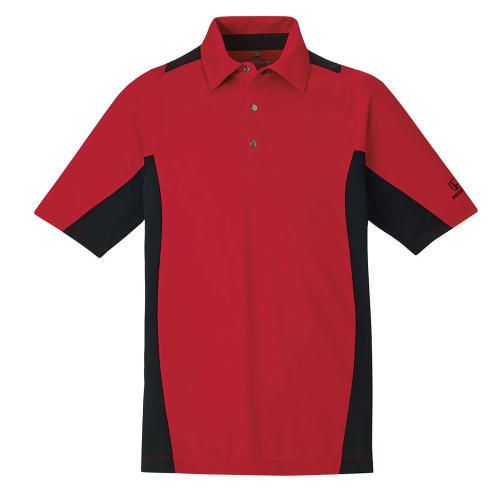 Men's Performance Polo. 100% polyester interlock, moisture wicking performance polo. Features UVprotection performance. Honda logo heat transferred in black on left sleeve.
