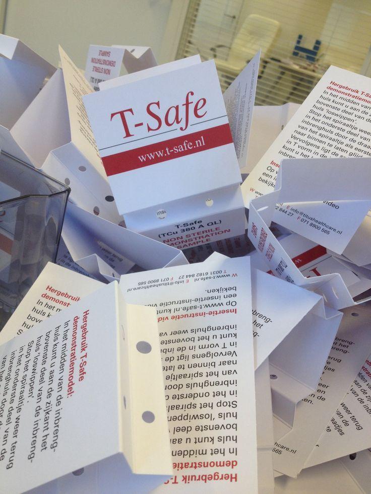 Een middagje T-Safe demonstratie pakketten klussen.