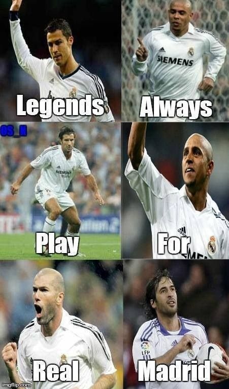 Real Madrid legendary. The Legends always play for REAL MADRID!!