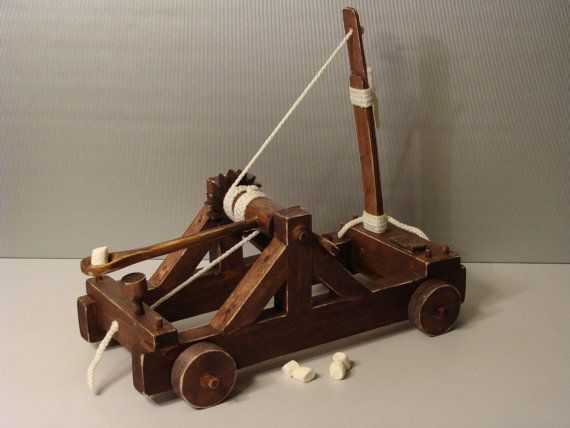 how to make a mini wooden catapult