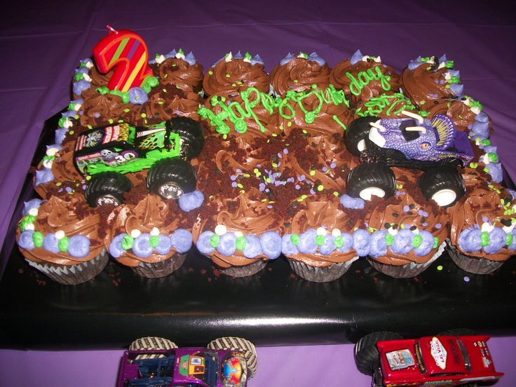 Monster Truck cupcakes!