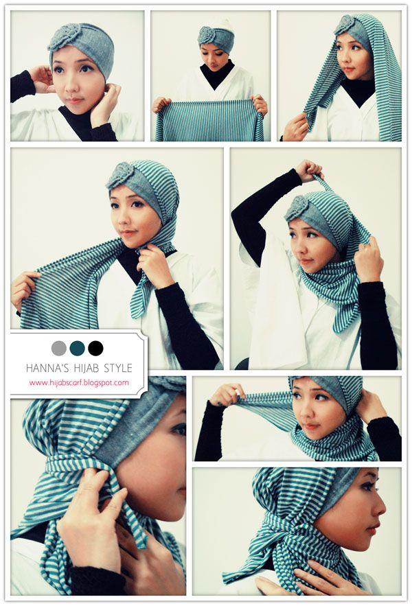 Tutorial : Hanna's Hijab Style   Hijab Scarf