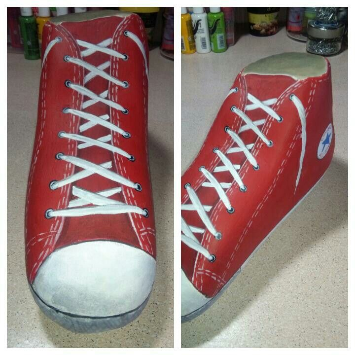 Rock painting shoes